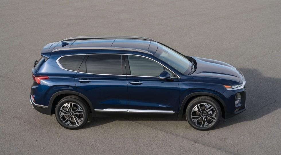 На фото: Hyundai Santa Fe четвертого поколения. Новый внедорожник Hyundai окажется больше и дороже Санты