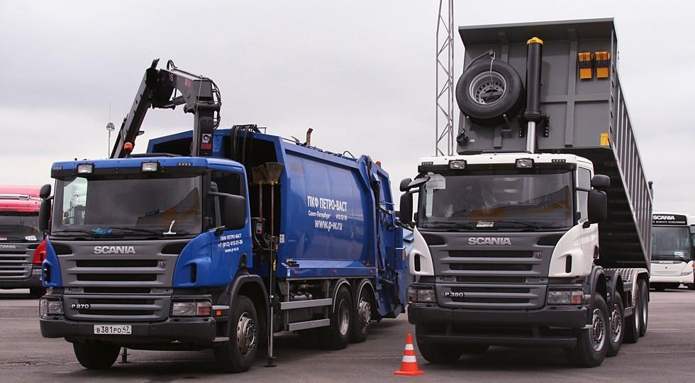 На фото: выпускаемые в России грузовики Scania
