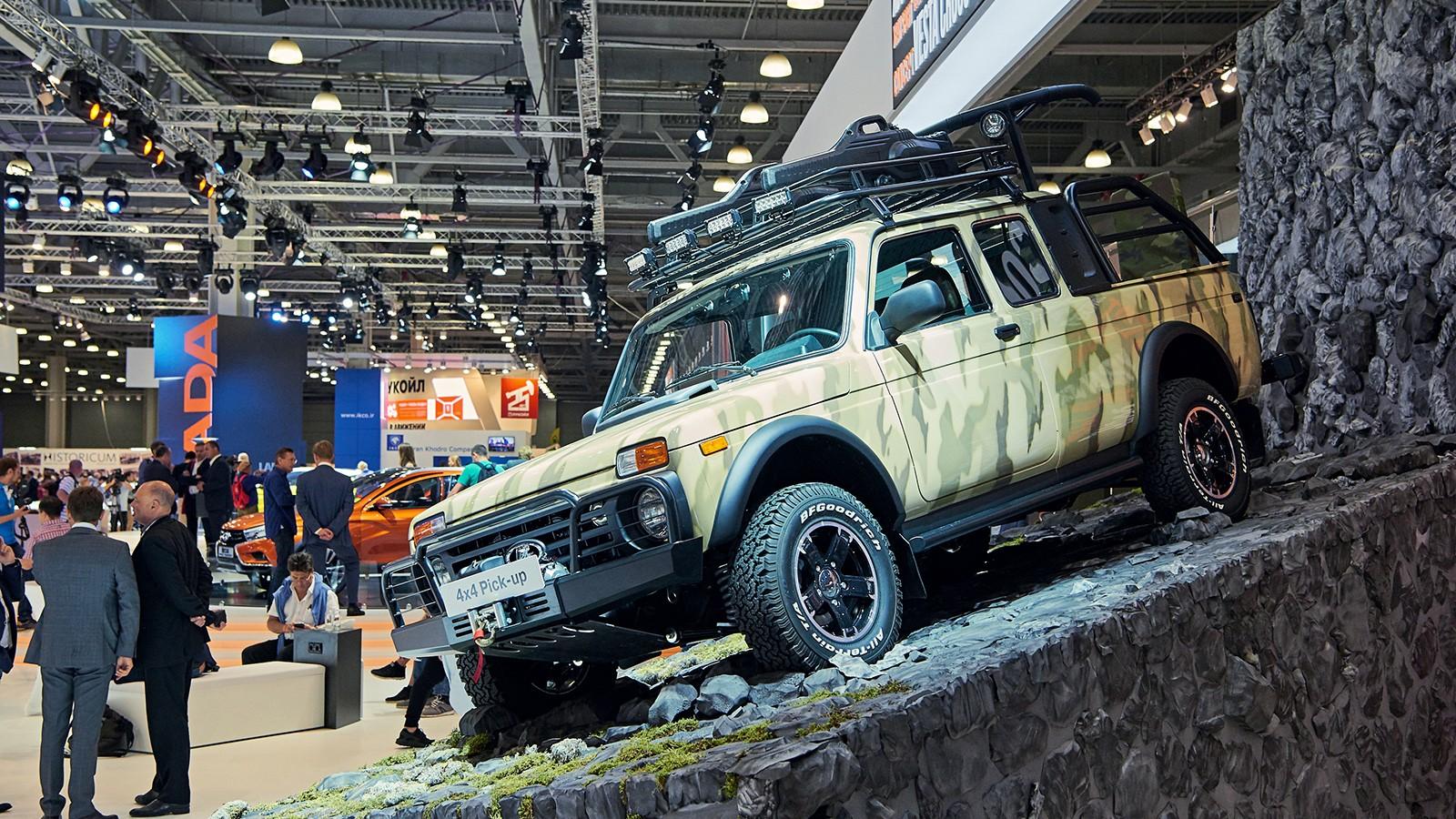 На фото: Lada 4x4 Pick-up, демонстрирующий потенциал внедорожника для тюнинга