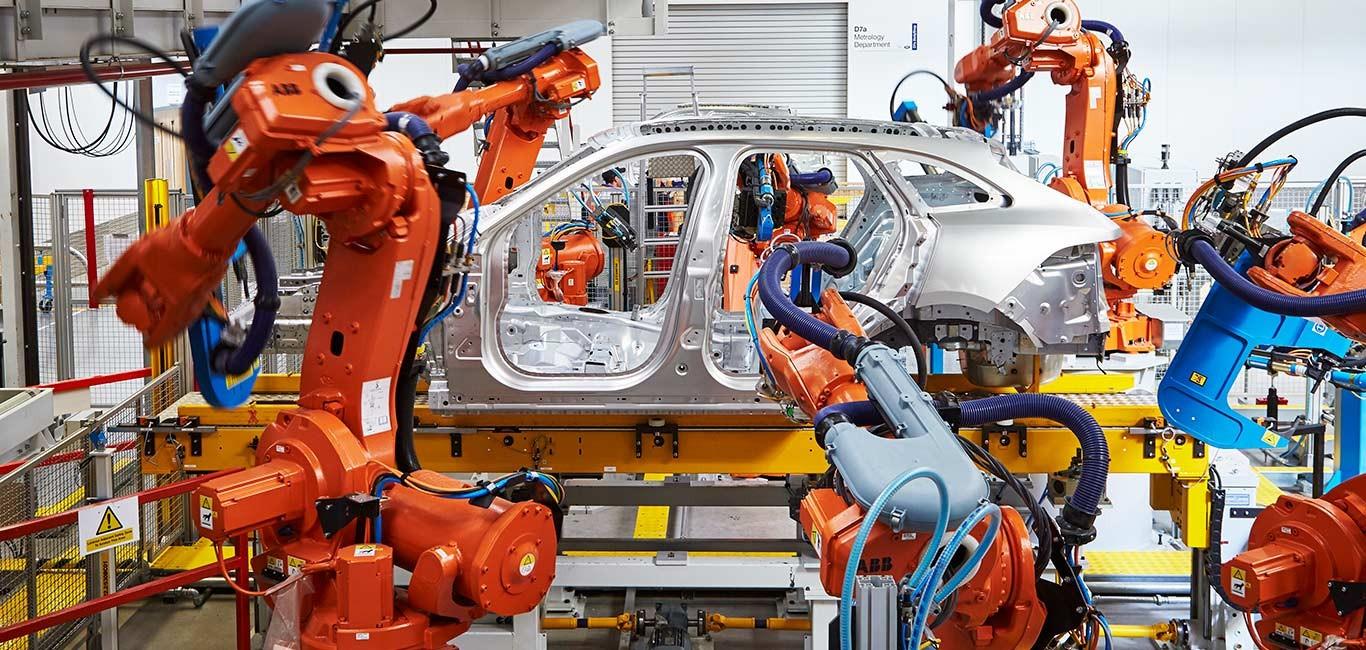 На фото: завод Jaguar Land Rover в Солихалле