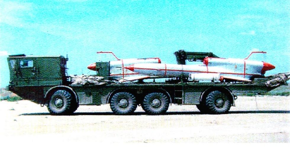 ТЗМ-143 на шасси БАЗ-135МБ в транспортном положении (из архива 21 НИИЦ)