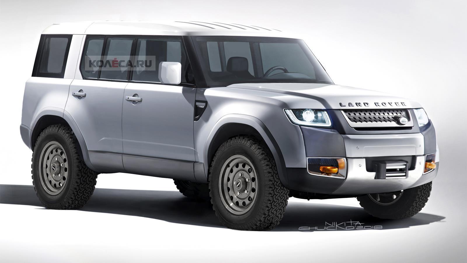 Новый Land Rover Defender (рендер Колёса.ру)