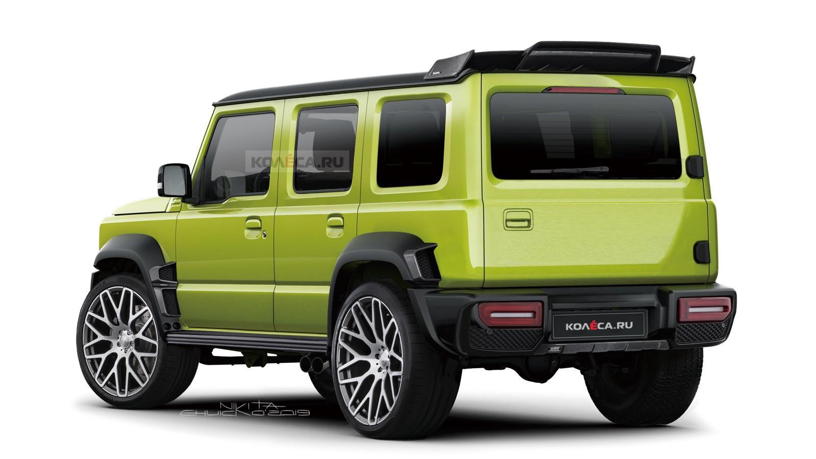 Дерзкий бюджетник: пятидверный Suzuki Jimny в премиальном тюнинге