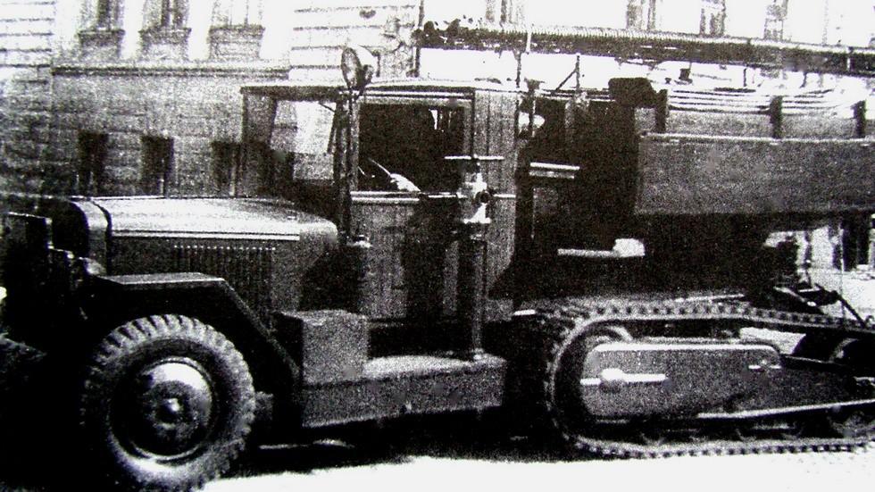 Пожарная машина ПВО на базе ЗИС-42М