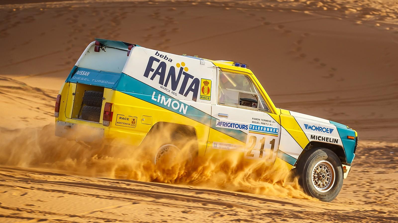 30 years on: Nissan's iconic 1987 Paris-Dakar rally car rides