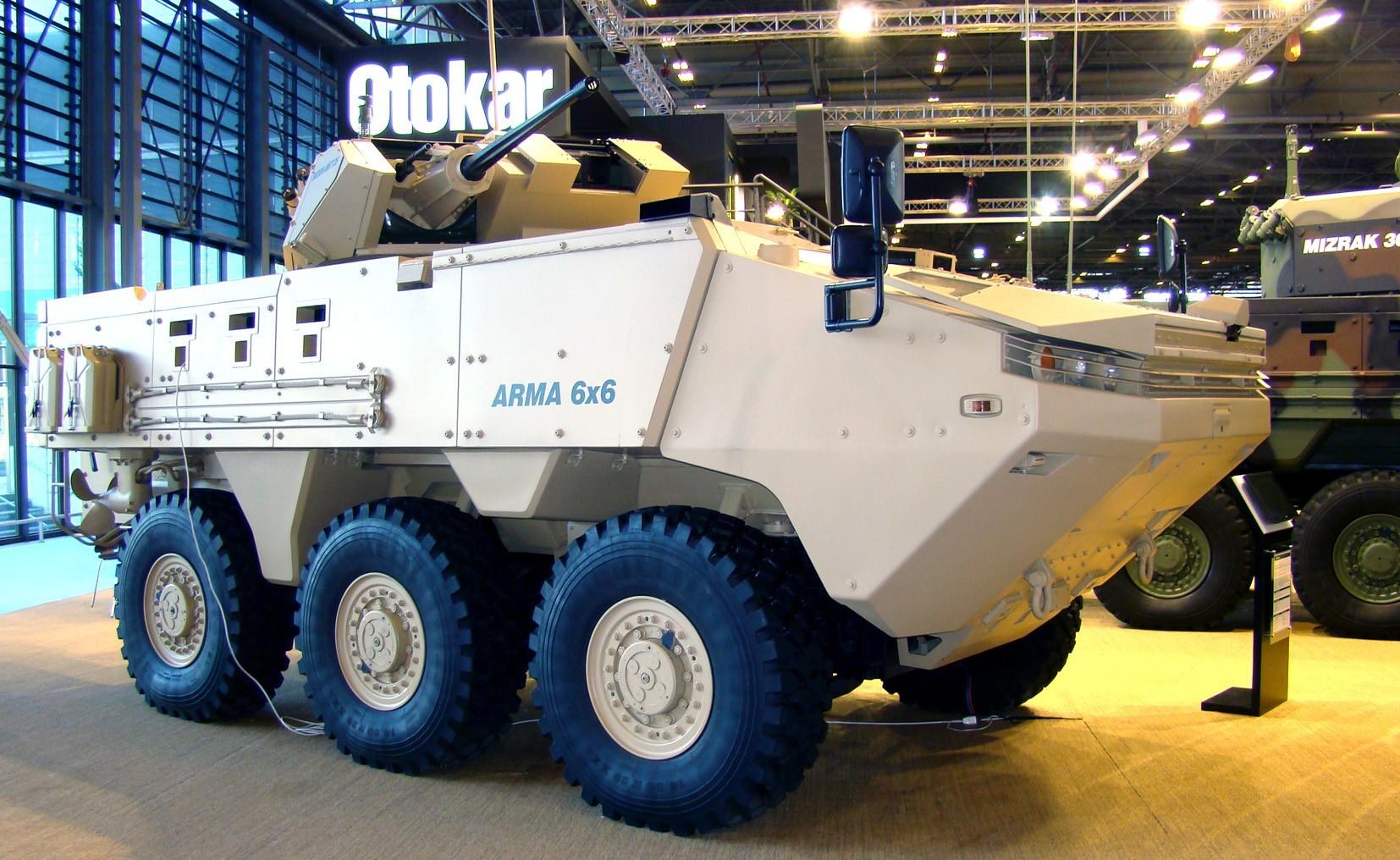 Трехосный модуль Arma с автоматической пушкой калибра 30 мм
