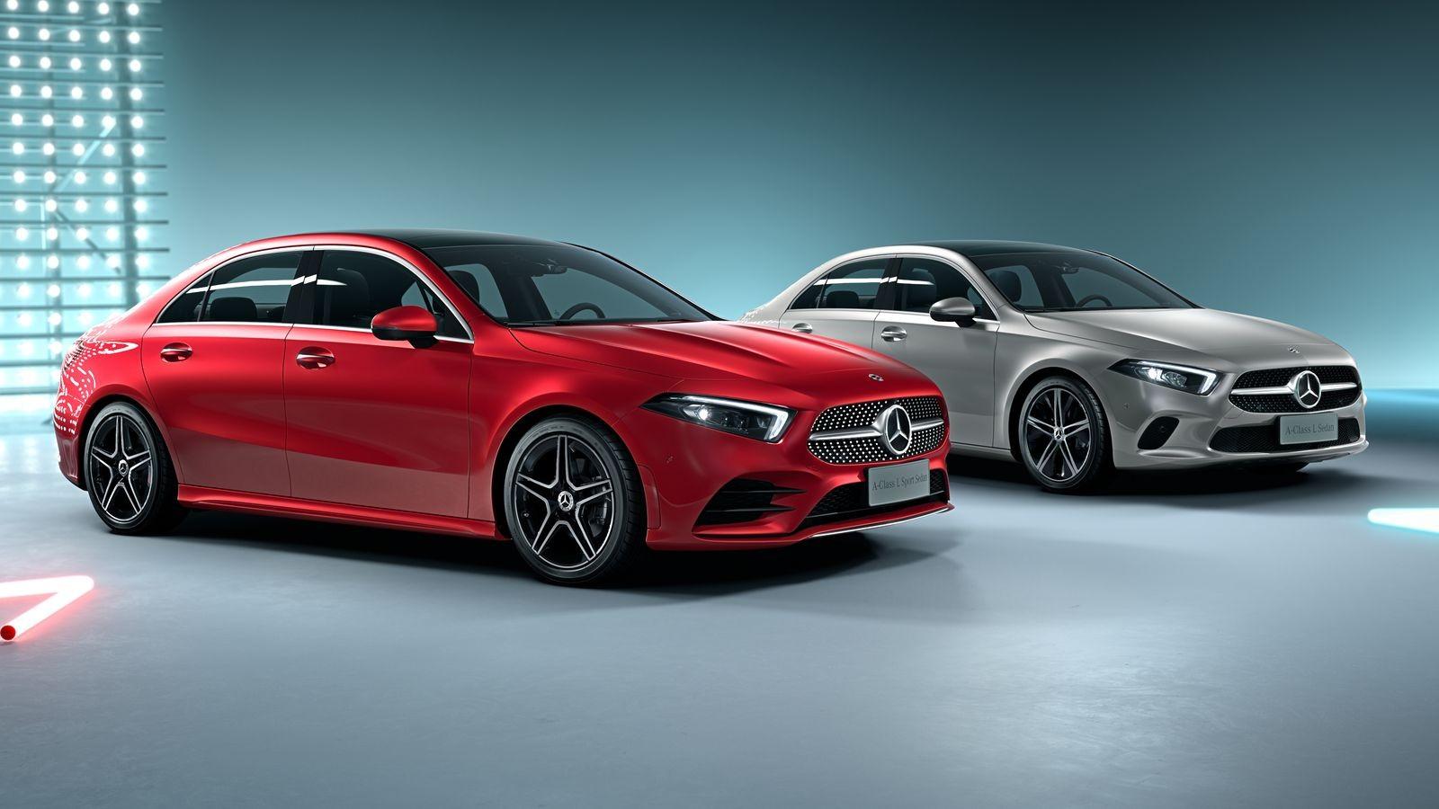 Mercedes-Benz А-класса имеет теперь два кузова седан – длинный для Китая (на фотографии) и короткий для всего остального мира.