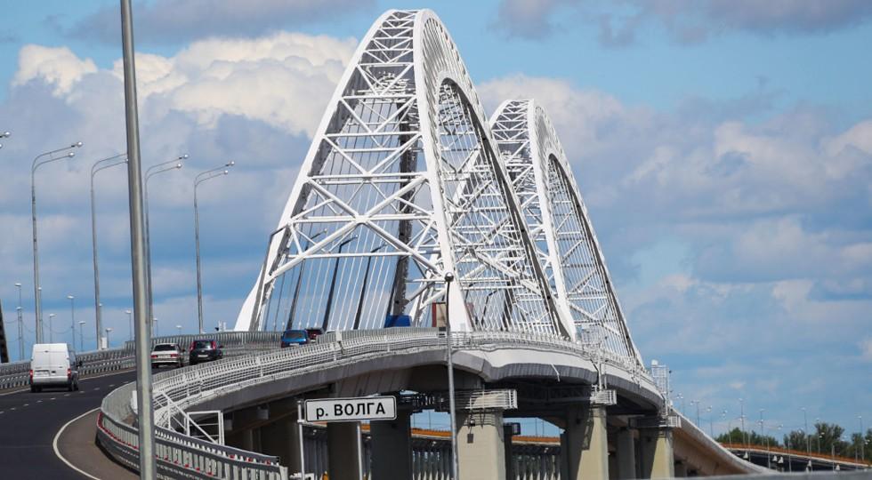 На фото: мост в Нижнем Новгороде, получивший трансферт от Платона