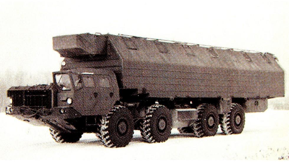 Многоцелевой 15-тонный кузов 2215 на шасси МАЗ-543М