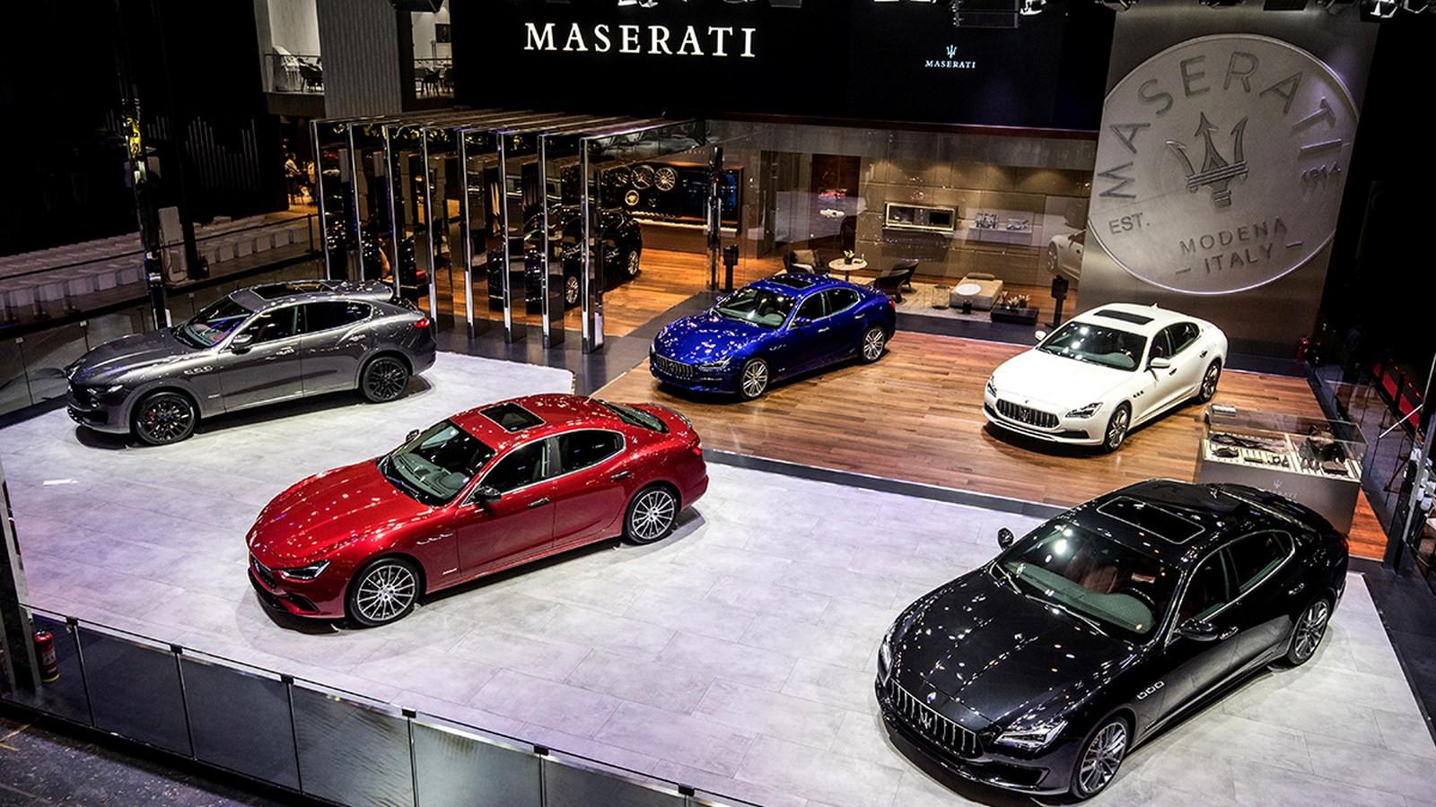 Maserati stand at Auto China 2018