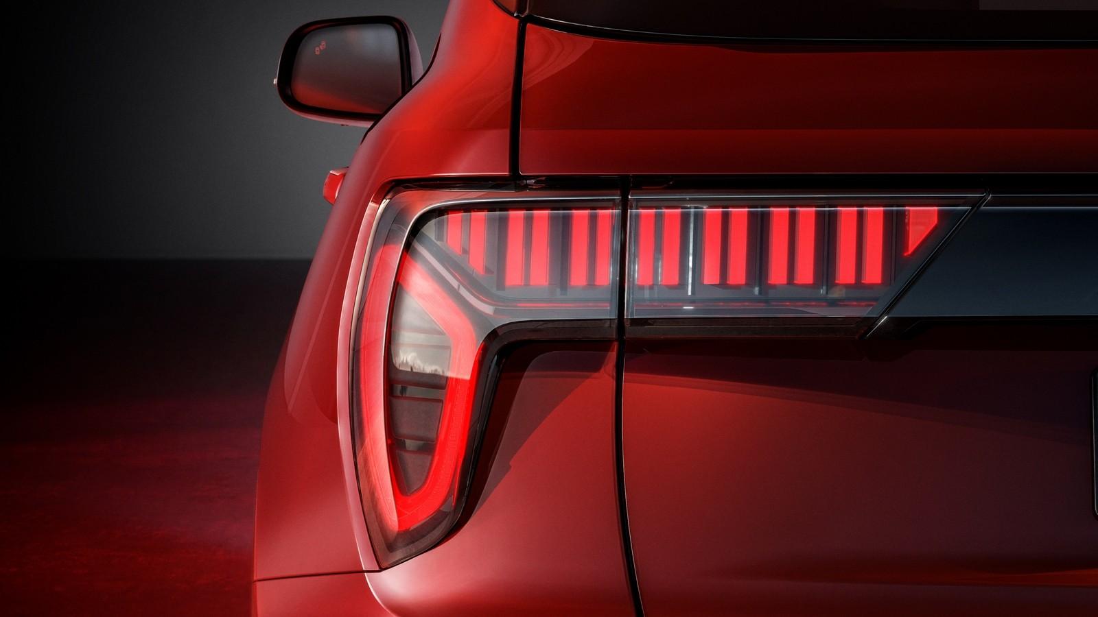 LYNK&CO 01 красный фонарь