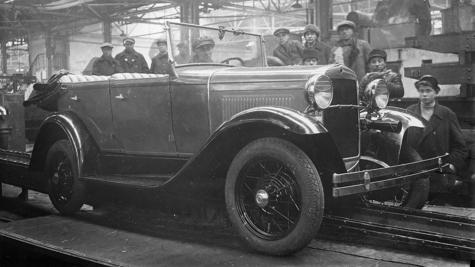 Пятая машина первого выпуска ГАЗ-А. 06.12.1932 г