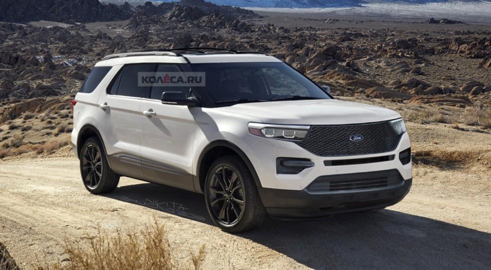 Так может выглядеть новый Ford Explorer по мнению дизайнера Kolesa.ru