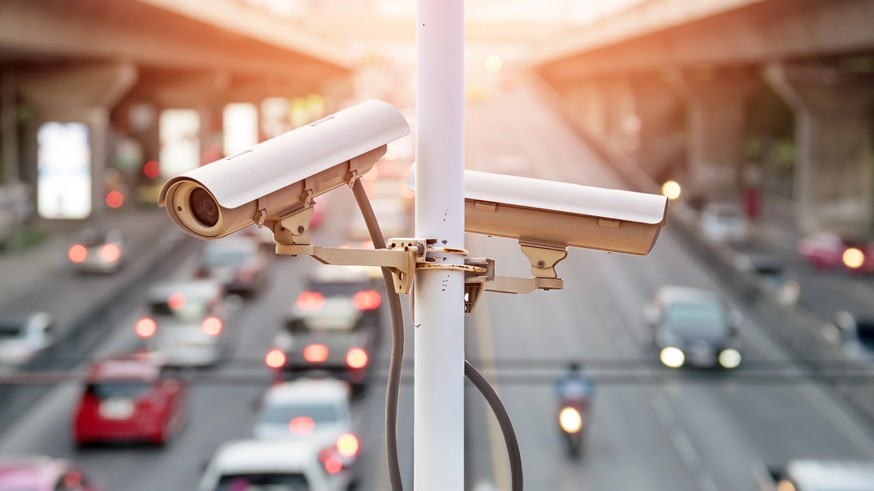 traffic security camera.