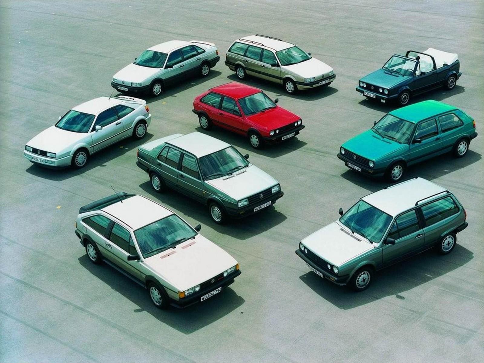 Начало 80-х: Scirocco II в окружении «обычных» Volkswagen