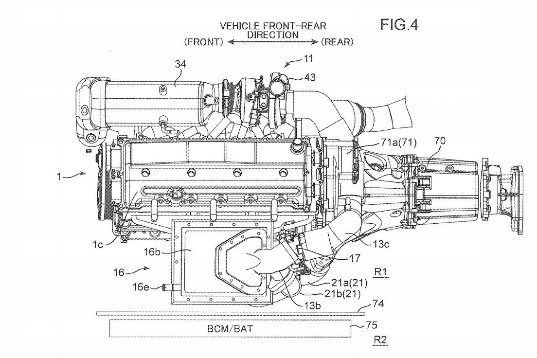 На фото: запатентованная схема нового двигателя Mazda