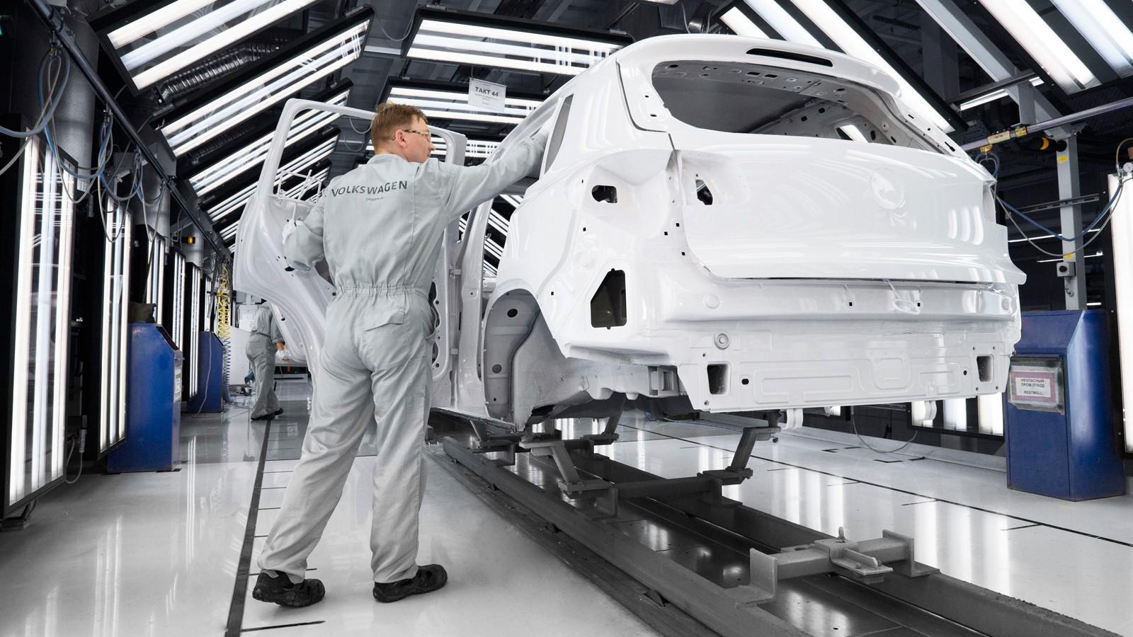 Производство Volkswagen Tiguan