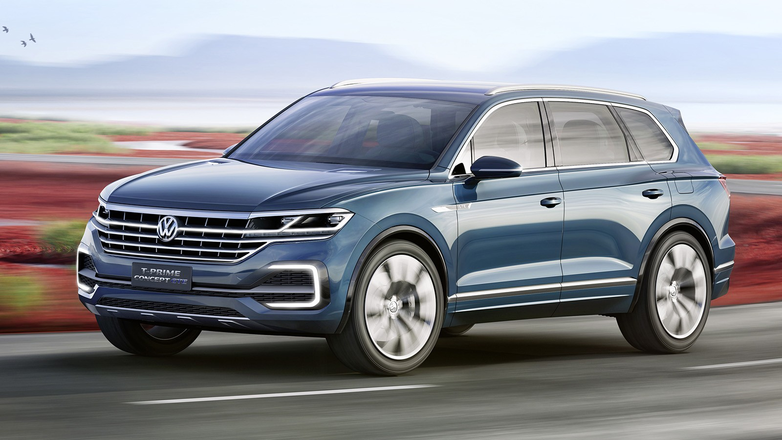 На фото: Volkswagen T-Prime GTE Concept. Он стал прототипом для нового Туарега