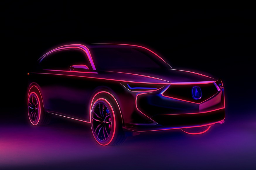 Acura принялась рассекречивать MDX нового поколения, хотя все и так знают, как он выглядит