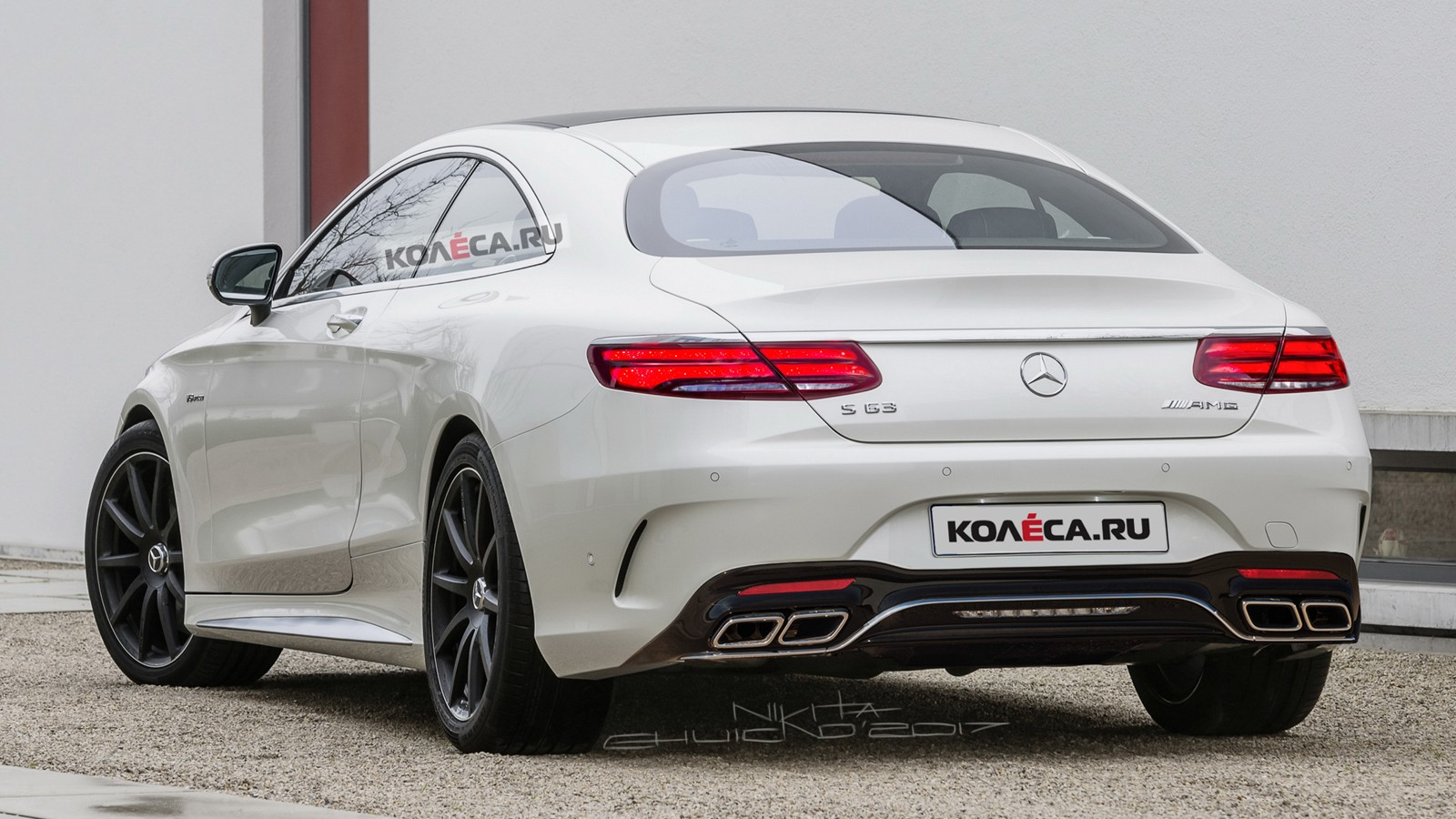 Mercedes S coupe AMG rear2