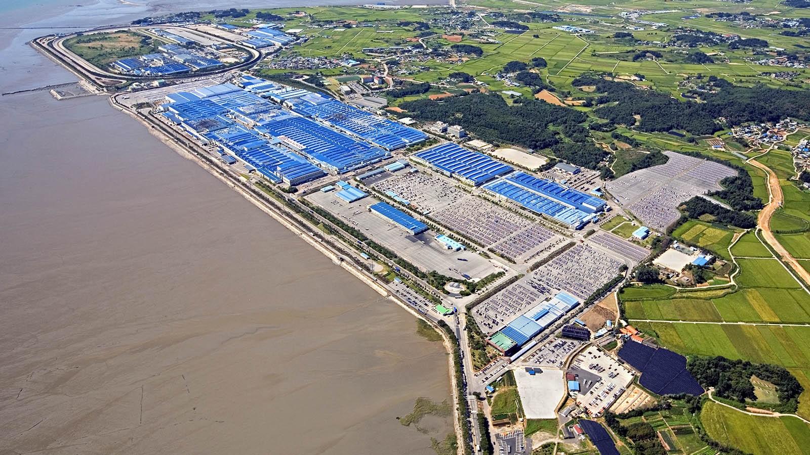 Завод Киа в пригороде Сеула