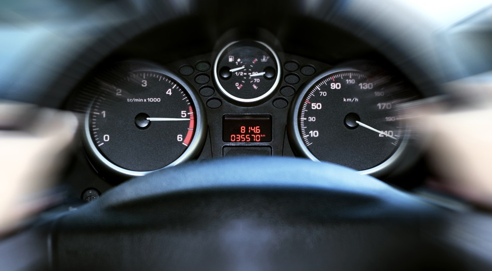 car panel instrument speedometer and tachometer (shallow dof)