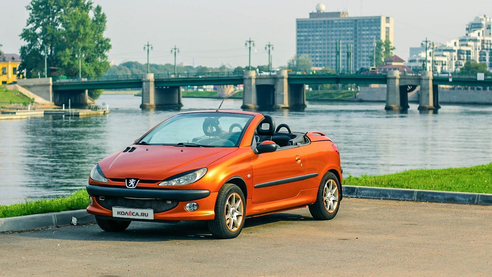 Peugeot 206 СС оранжевый три четверти