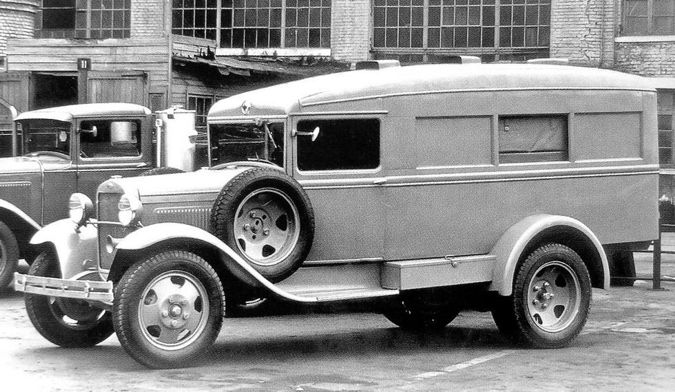анитарный автомобиль ГАЗ-55 на шасси ГАЗ-ММ