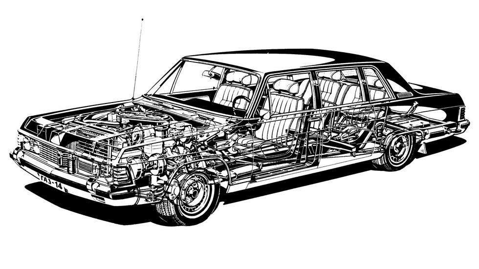 Чайка ГАЗ-14 получила передние дисковые тормоза. Причем не простые, а вентилируемые!