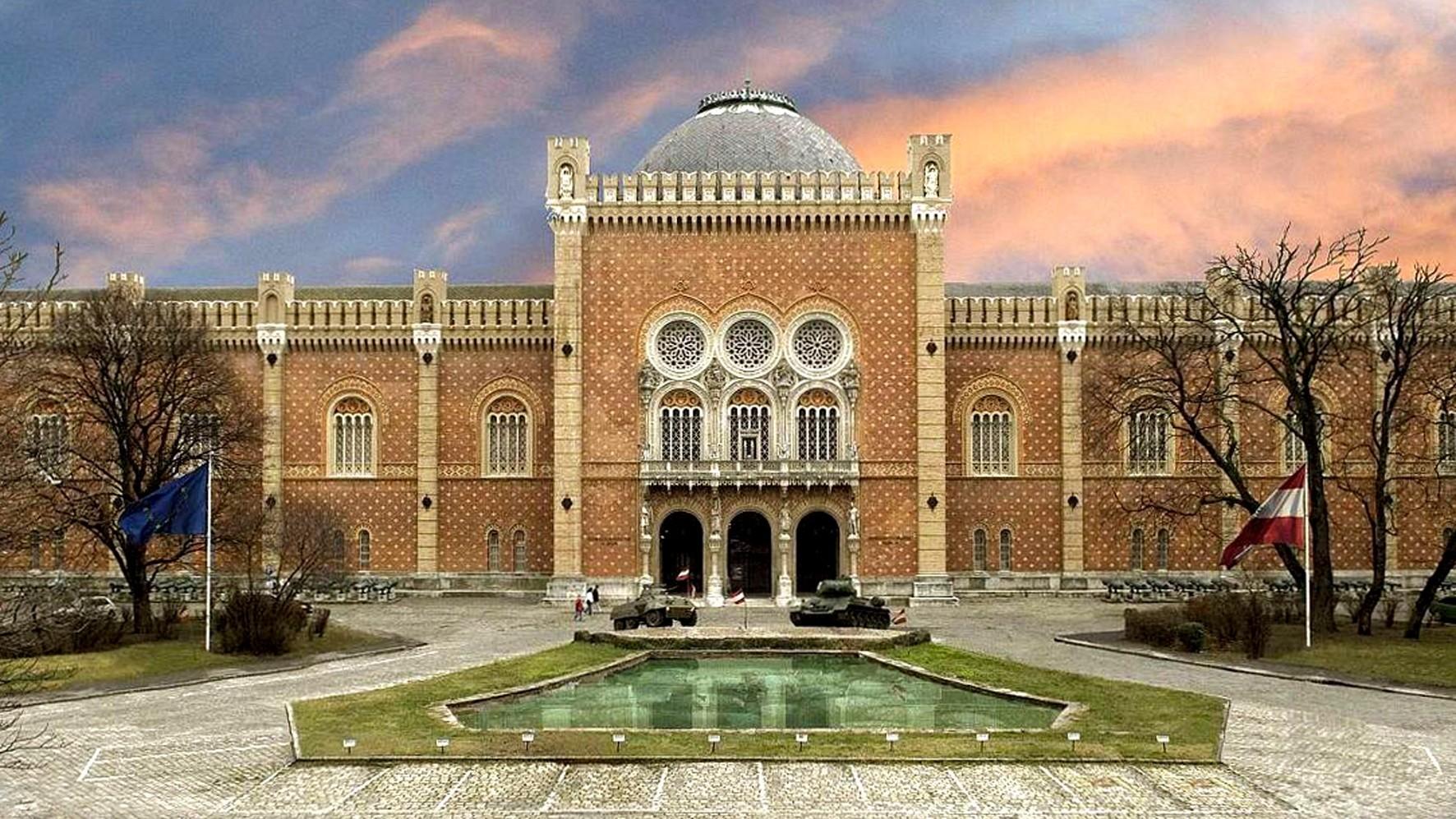 Массивное здание Венского военного музея, где хранится легендарный «Грэф»
