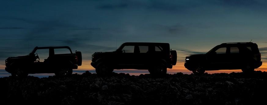 Ford показал две версии нового рамного внедорожника Bronco и кроссовер Bronco Sport