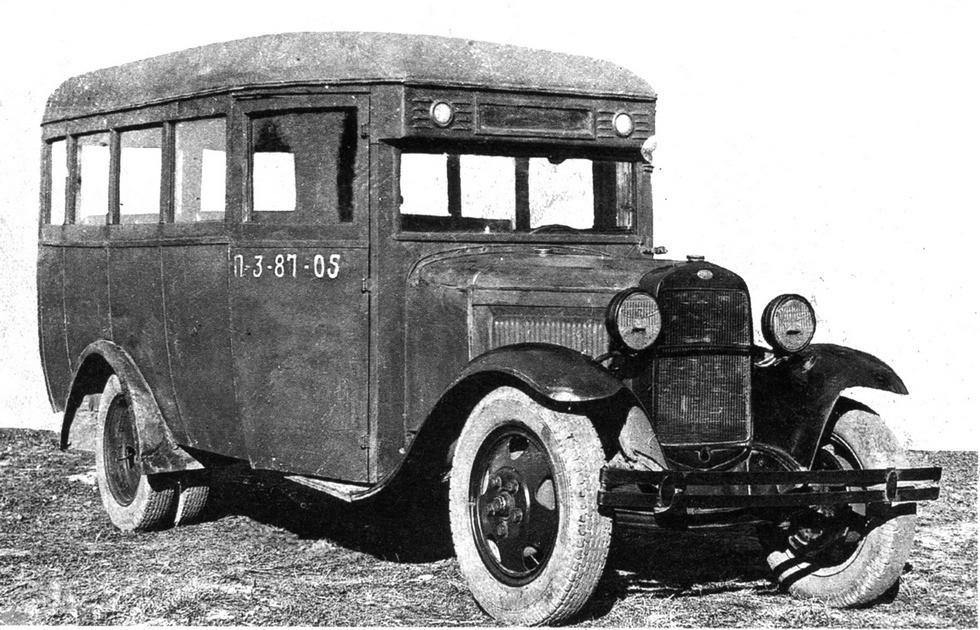 Армейский 17-местный автобус ГАЗ-03-30 для перевозки военнослужащих