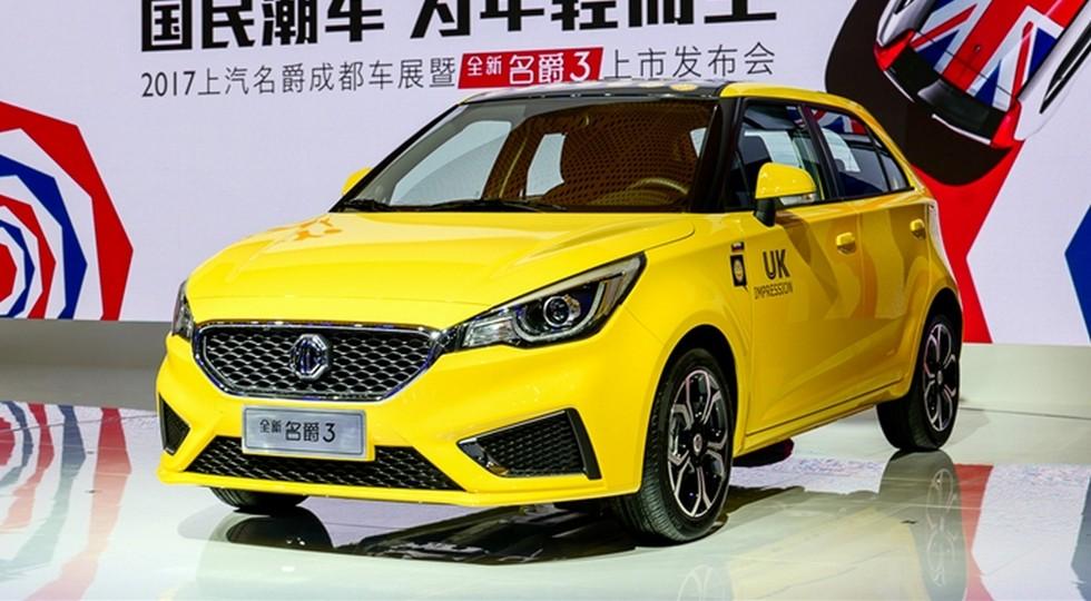 На фото: обновленный MG 3 для Китая