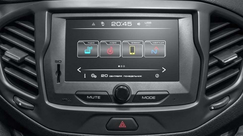 Lada Vesta дисплей