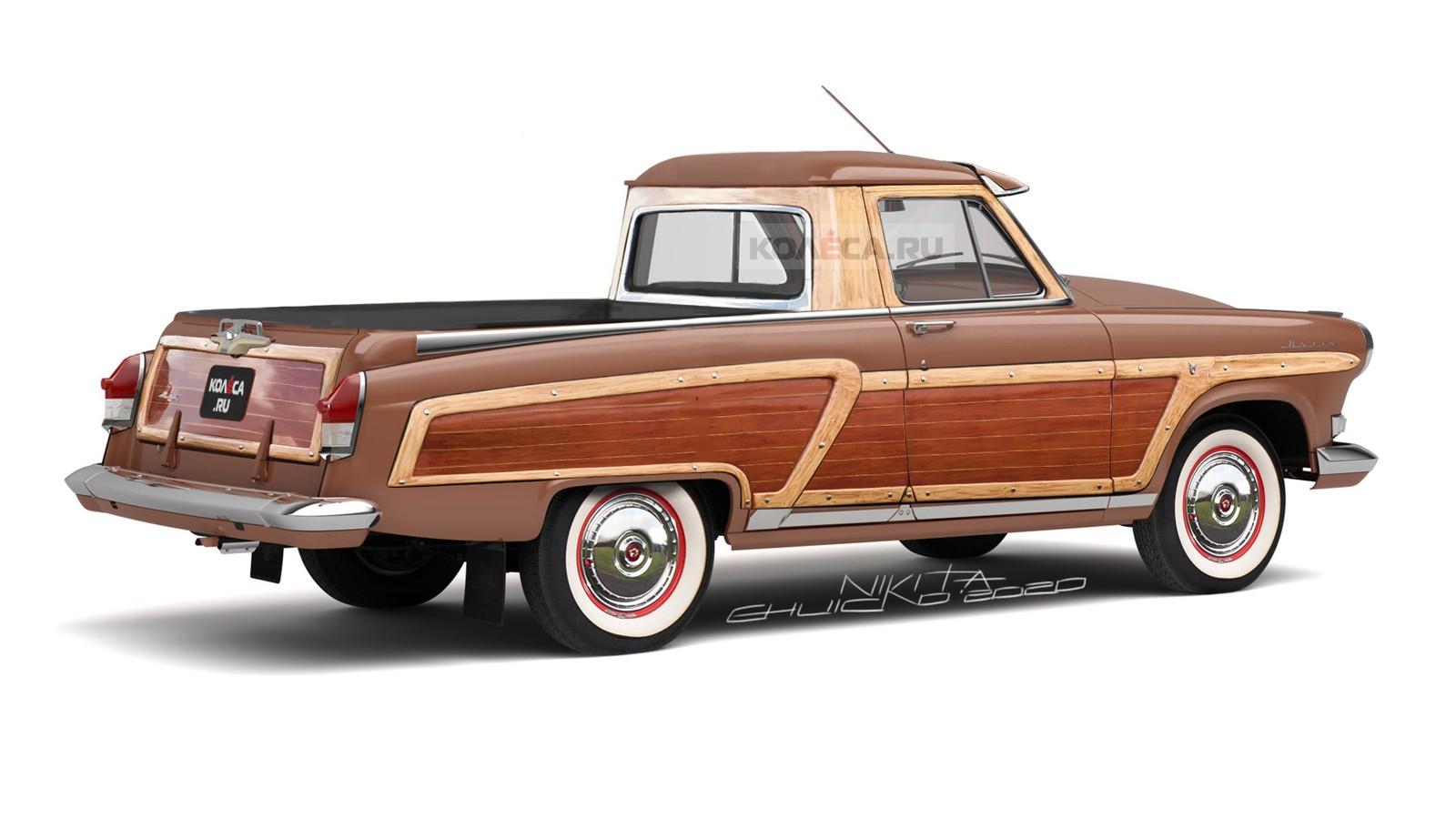 Пикап ГАЗ-21 в стиле Woody: каким он может быть