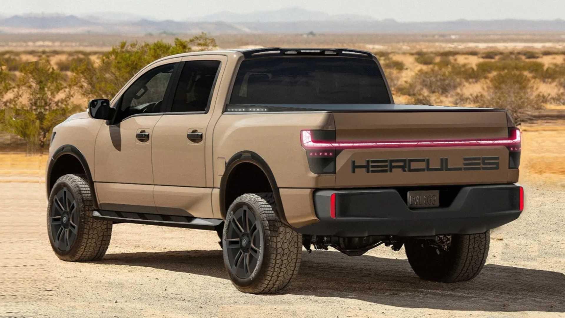 Hercules Alpha: ещё один электрический пикап с солнечной батареей в кузове