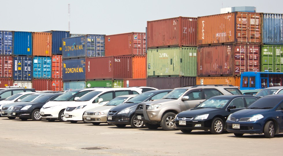 BANGKOK — MARCH 6 : Many cars park at Klong Toey port on March 6