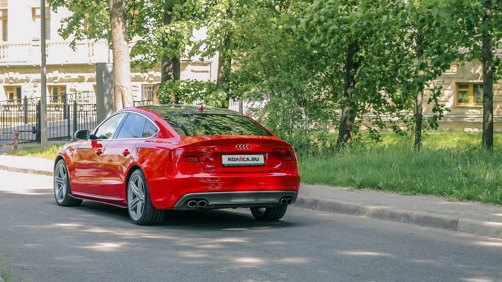 Audi A5 Sportback красная сзади (2)
