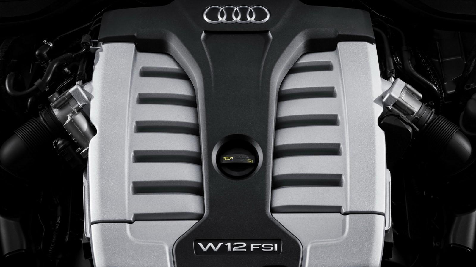 Двигатель W12 в Audi A8 предыдущего поколения (D4)