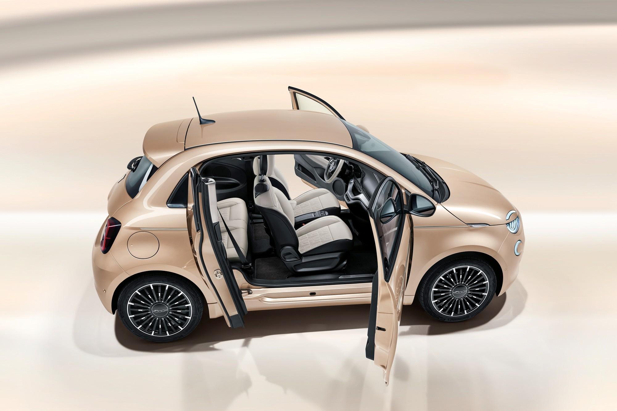 Fiat 500e 3+1:льная дверь и версия для бедных