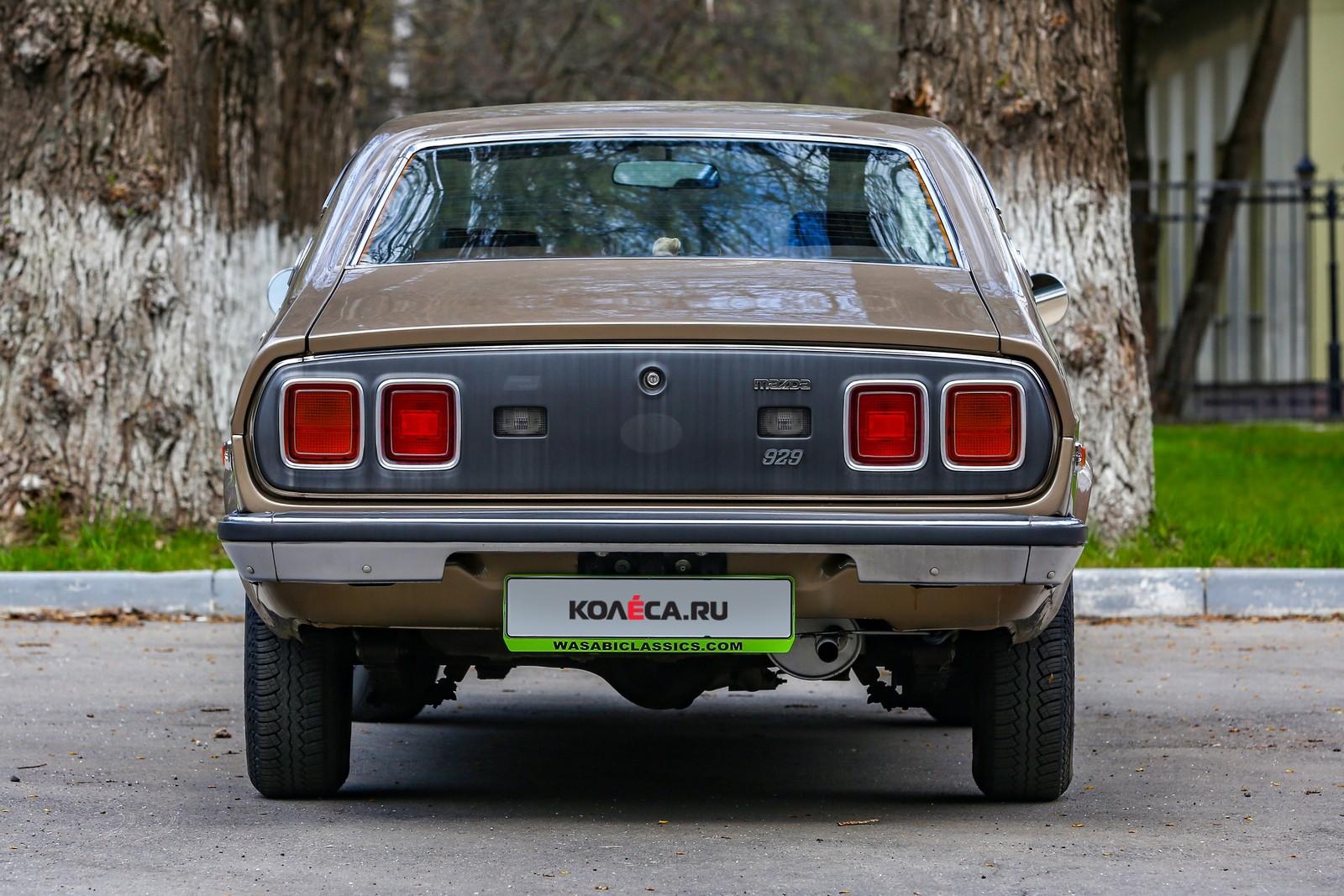 Mazda 929 коричневая вид сзади