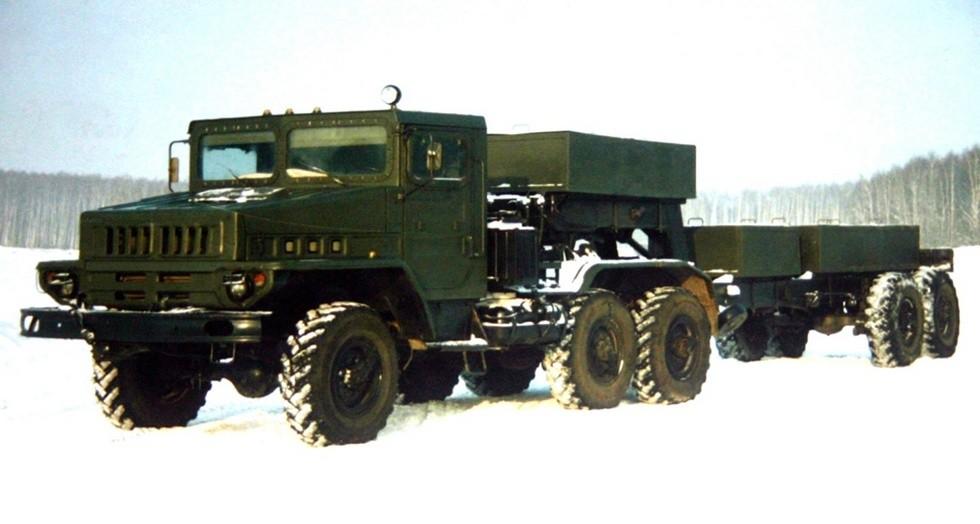 Зимние испытания активного автопоезда 6009 с седельным тягачом ЗИЛ-443114