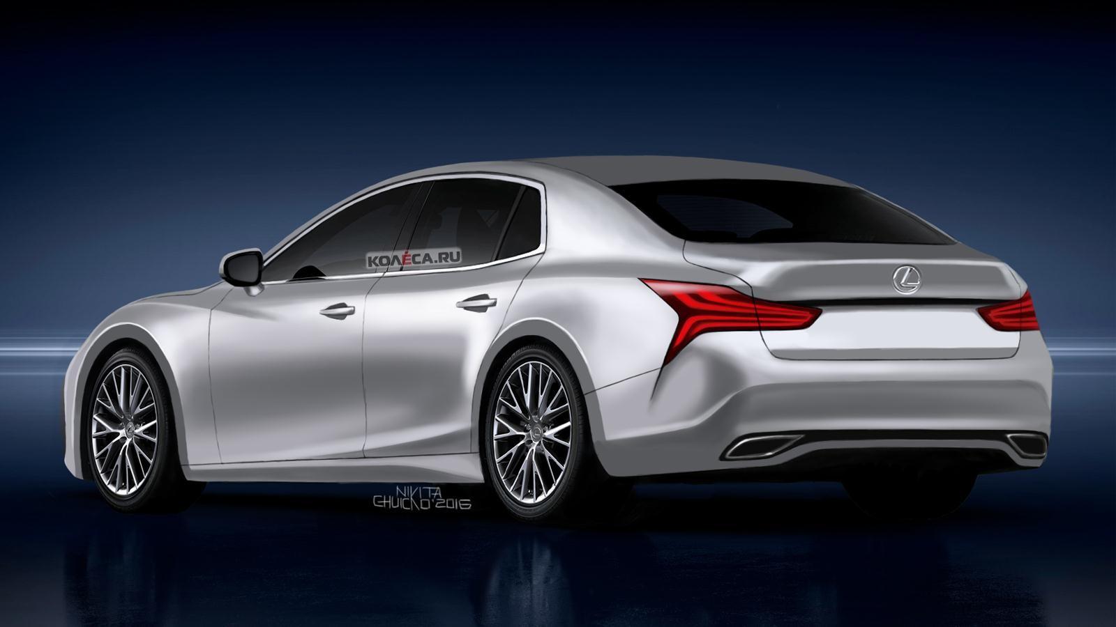 Lexus LS rear