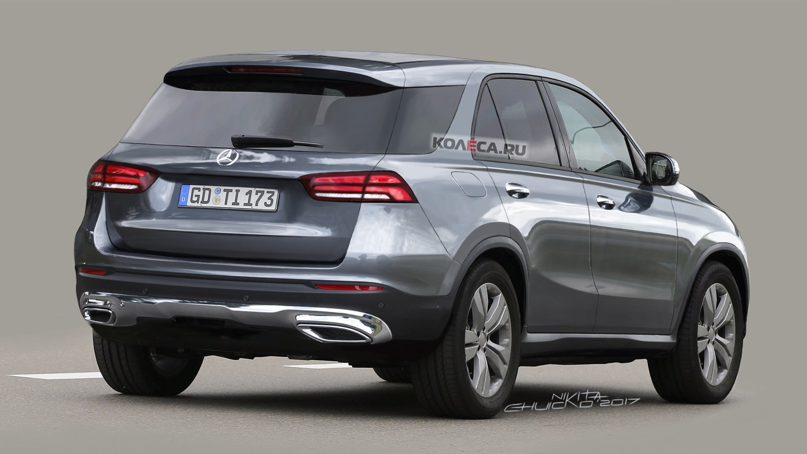 Mercedes GLE rear