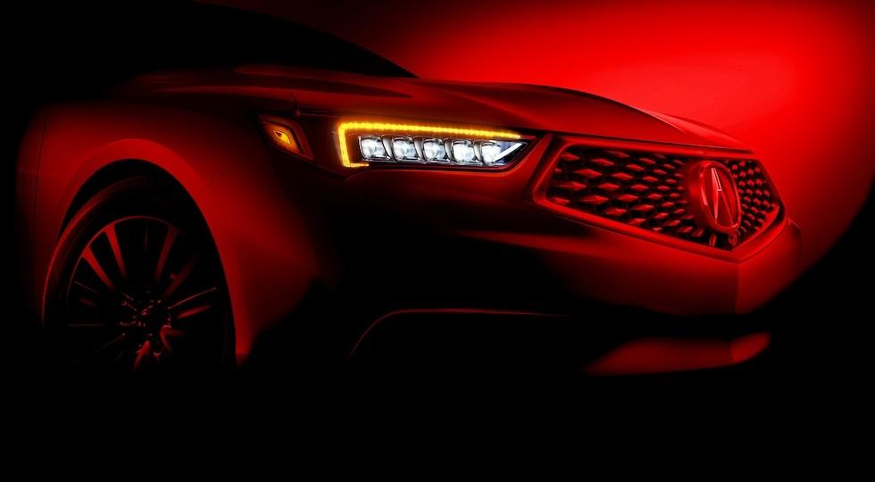 Тизер обновленного седана Acura TLX