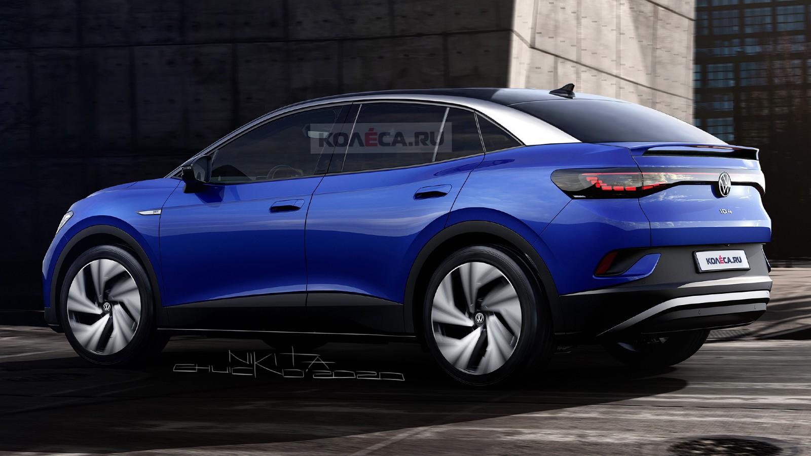 Новое серийное кросс-купе Volkswagen ID.5: первые изображения