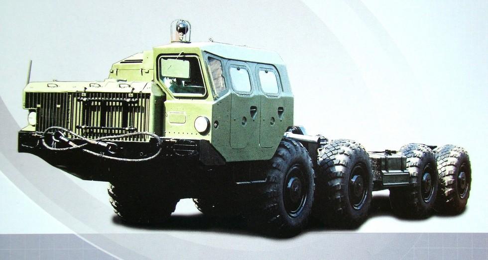 Поздний вариант шасси МАЗ-543М с длиной рамы около 9 м (из проспекта МЗКТ)