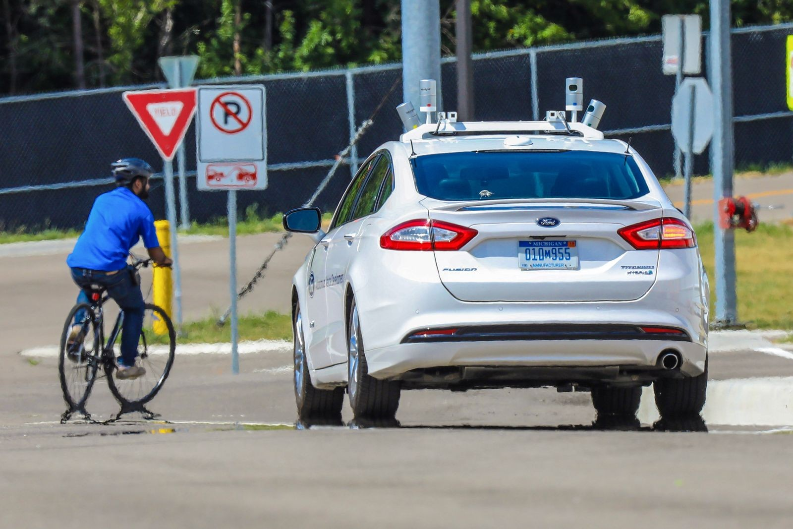 Autonomous Vehicle Testing at Mcity