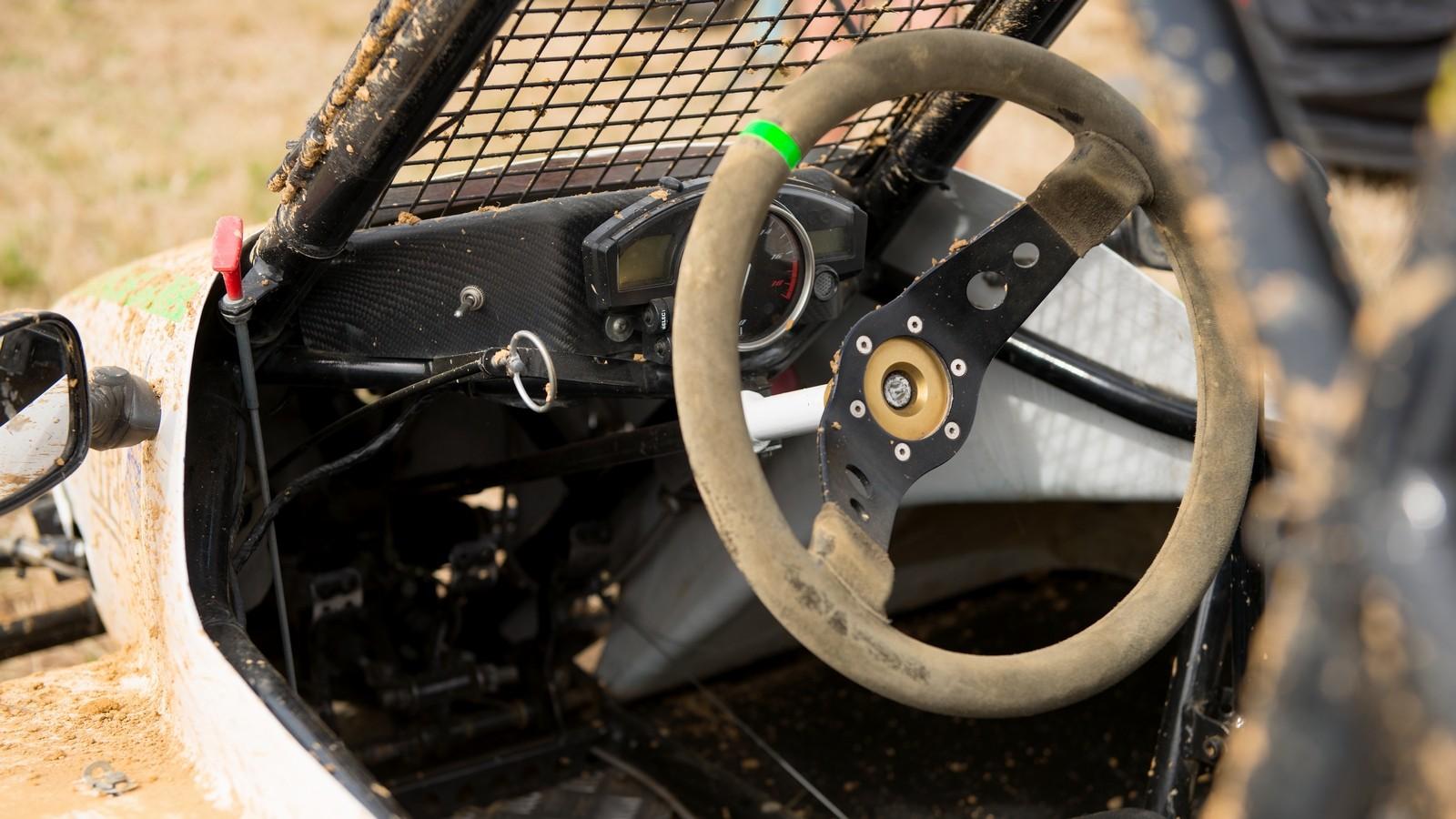 Steering wheel of a kartcross buggy