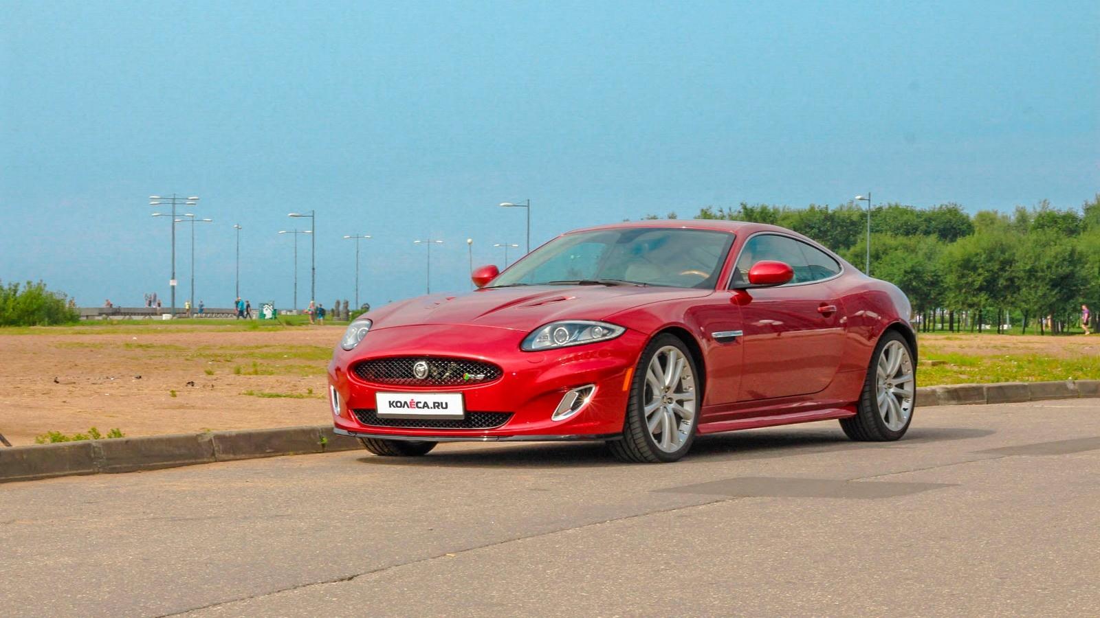 Jaguar XKR красный три четверти (3)